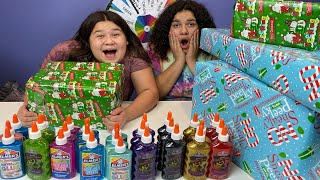 Last To Stop Making SLIME Wins CHRISTMAS PRESENTS!!!
