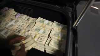 Lamborghini filled up with money ( 50 cent)