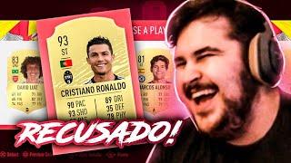 RECUSEI O CR7 NO DRAFT DO FIFA 20 Ultimate Team