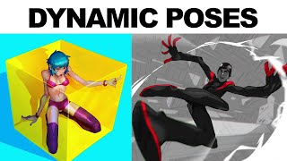 HOW TO DRAW DYNAMIC POSES! Drawing Action & Foreshortening