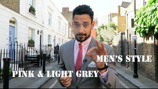 Mens Style / Pink & Light Grey Formalwear/ Carl Thompson