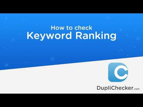 Keyword Rank Checker Software