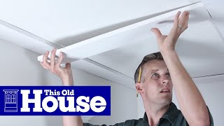 How to Build a Coffered Ceiling | This Old House