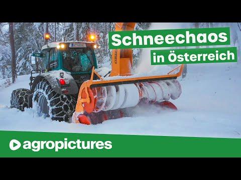 Winterdienst in Österreich mit Fendt Traktoren | Schneechaos 2019 | Lener Hackgut GmbH
