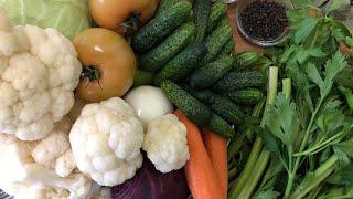 Засолка овощного ассорти