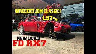 Rebuilding A Wrecked V8 Mazda RX7 [part 1]
