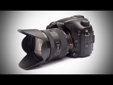 Sony A77 DSLR Camera Unboxing!