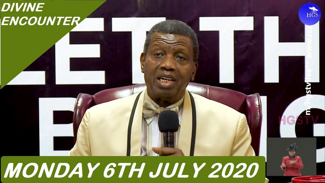 RCCG 6th July 2020 Divine Encounter with Pastor Adeboye