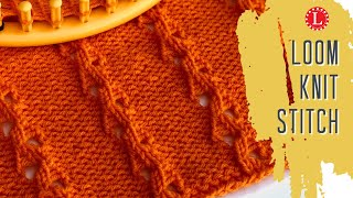 LOOM KNITTING Stitches The Single Eyelet Stitch Pattern | Loomahat