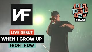 "NF LIVE *DEBUT* OF ""WHEN I GROW UP""   822019 Lollapalooza Chicago"