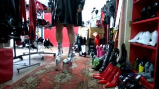 Pony Boots lack pu platform 20cm.NEW.Producer Bolingier Poland