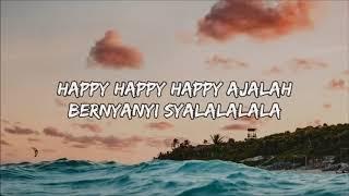 Gambar cover DJ Qhelfin   Happy Ajalah ft  Gafar Lyrics Lyric Video   YouTube