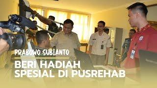Hadiah Spesial Prabowo pada Prajurit TNI di Pusrehab Kemhan