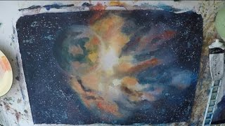 How To Paint Galaxy, Stars and Planets in Watercolour