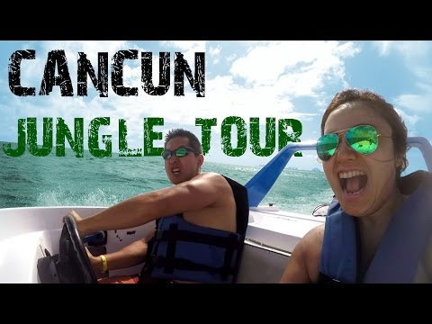 Cancun México – Jungle Tour Speed Boat Adventure – GoPro – Caribe