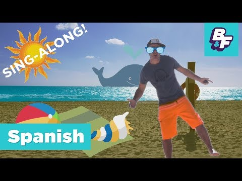 Learn Spanish Beach Vocabulary Sing-Along Song   BASHO & FRIENDS 4k Learning Songs   La playa