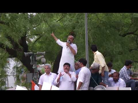 AAP Leader Dilip Pandey Addresses at Protest March To the PMO