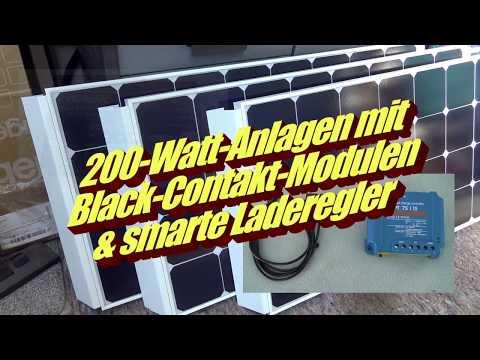 200-Watt-Solaranlage von GNS – mit Black-Contakt-Modulen und smarten Ladereglern