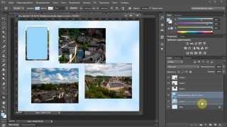 Урок Adobe Photoshop CS6. Как сделать коллаж? Обтравочная маска