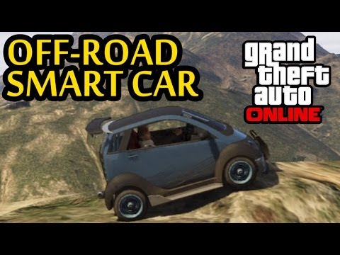 GTA 5 - Off-Road 4x4 | Climbing Mountain In The Smart Car (GTA V Microcar Up Mt Chiliad)