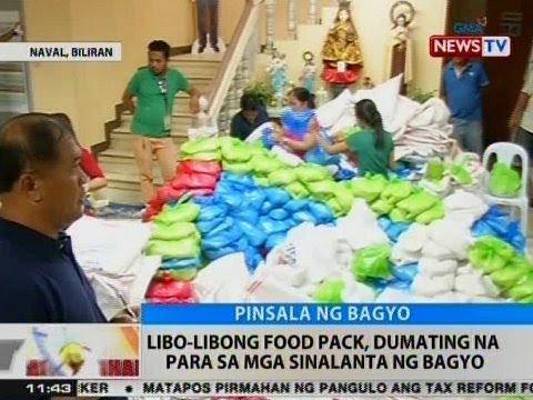 BT: Libo-libong food pack, dumating na sa Naval, Biliran para sa mga sinalanta ng bagyo