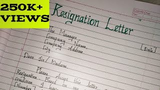 Resignation Letter // writing a formal resignation letter