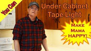 Easy Under Cabinet Light Installation  LED Tape Light