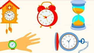 УЧИМ ВРЕМЯ. Знакомимся с часами. Учим время по часам для детей