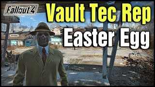 Fallout 4: Vault Tec Rep Guy/Ghoul Easter Egg! | Secret Settler Helper Location