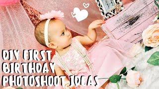 DIY FIRST BIRTHDAY PHOTOSHOOT IDEAS