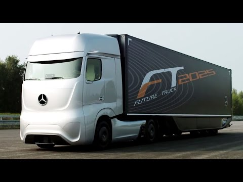 The Truck Of The Future Is Made By Mercedes Benz, And It Looks Like A Starship
