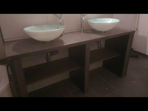 Doppelwaschbecken selbst erstellen - mit Wasseranschluss - Anleitung - Do it yourself - NEU - HD