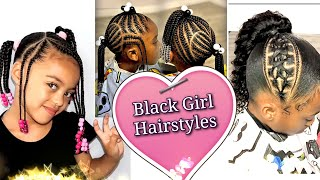 Black Girl Hairstyles. The Black Kid Cornrows And Braids Hairstyles, Braids For Little Girls #1💝