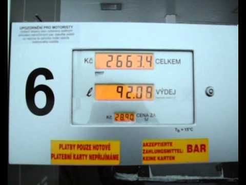 Der Geruch des Benzins beim Schütteln
