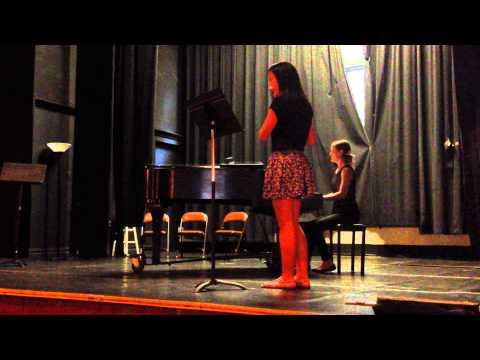Mia performs Bach Sonata in Eb Major