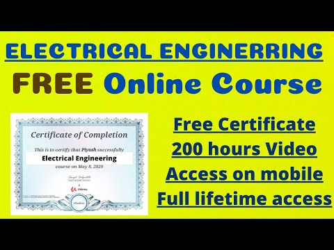 घर बैठे Electrical Engineering Course फ्री में करे | Free e-Certificate| Course-Electrical Engineers