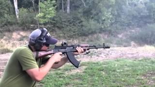 AK47 And Longrange Shooting In Slow Motion
