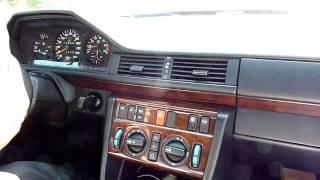 Driving  Mercedes  E500  W124