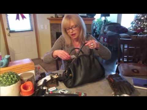 What's in my Bag ~ Fossil satchel