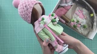 Набор для шитья куклы - текстильная кукла малышка | Handmade Fabric Dolls - Rag Doll