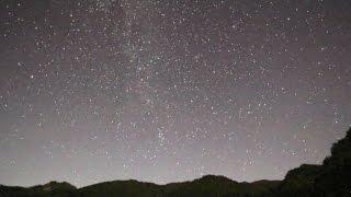 オリオン座流星群の夜2012/10/21兵庫県の氷ノ山スキー場流れ星1つ