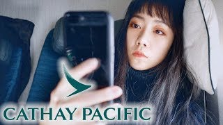 國泰航空 餐食服務都很普通但搭因航就是爽!窺看頭等/商務艙!飛機上13小時如何渡過?Cathay Pacific