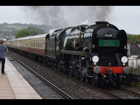 35028 'Clan Line' on her first 'Torbay Express' at Exeter St…