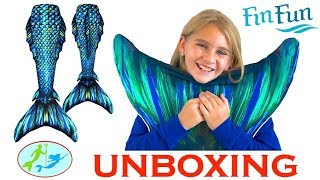 My First ATLANTIS MERMAID TAIL Unboxing And Swim In The Pool   Theekholms