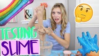 Testing WEIRD VIRAL Slimes Part 2! (NO BORAX!)   Sasha Morga