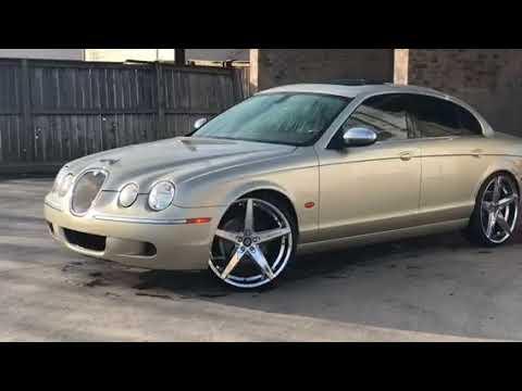 "Jaguar s type on 22"" lexani R4 wheels"