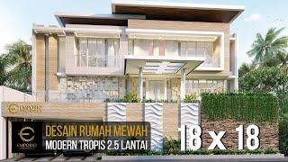 Video Desain Rumah Modern 2.5 Lantai Ibu Purie di  Bandung, Jawa Barat