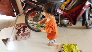 Baby doing housework ✔