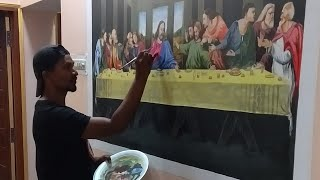 The last supper || painting || timelapse || kishor arts