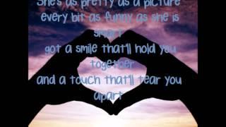 Hell on the Heart Eric Church Lyrics on screen